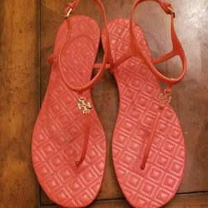 Tory Burch Marion Sandals Poppy Red